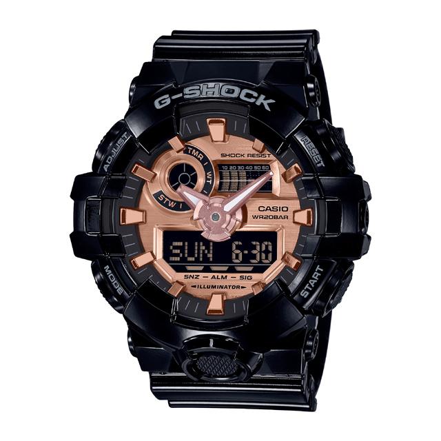 G-SHOCK ジーショック CASIO カシオ メンズ 腕時計 ブラック×ローズゴールド GA-700MMC-1AJF [G-SHOCK/ジーショック/防水/腕時計]