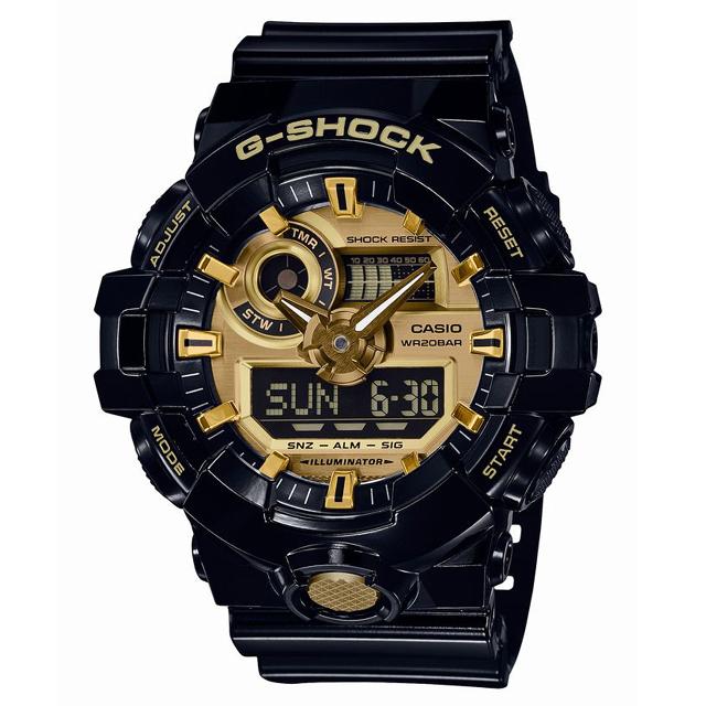 G-SHOCK ジーショック CASIO カシオ メンズ 腕時計 GA-710GB-1AJF [20気圧防水/アナログ/ストリート]