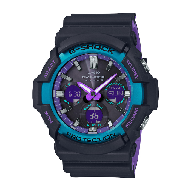 G-SHOCK ジーショック CASIO カシオ メンズ 腕時計 BLACK & 90s Color GAW-100BL-1AJF [G-SHOCK/ジーショック/電波ソーラー/腕時計]