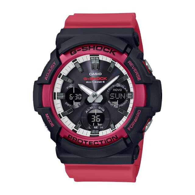 G-SHOCK ジーショック CASIO カシオ メンズ 腕時計 Red & Black GAW-100RB-1AJF [G-SHOCK/ジーショック/腕時計/電波ソーラー/防水]