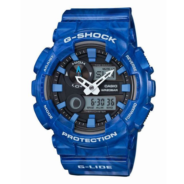G-SHOCK ジーショック CASIO カシオ メンズ 腕時計 G-LIDE Gライド GAX-100MA-2AJF [ブルー/サーフィン/スポーツ/国内正規販売店/Authorized Dealer]