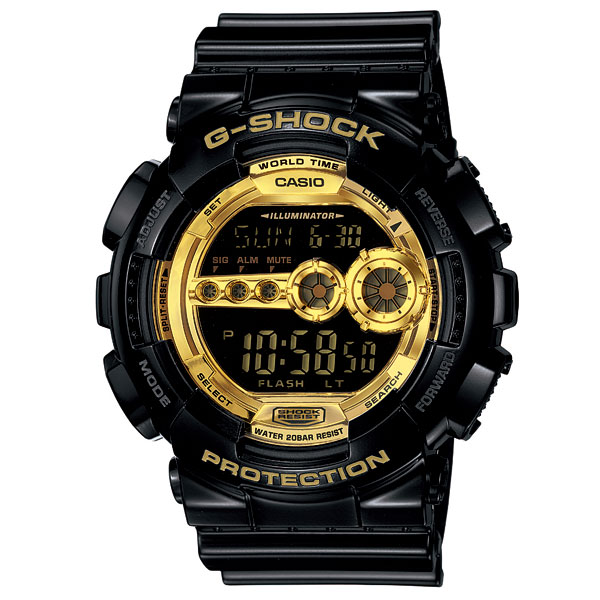 G-SHOCK ジーショック 「Black×Gold Series」 GD-100GB-1JF