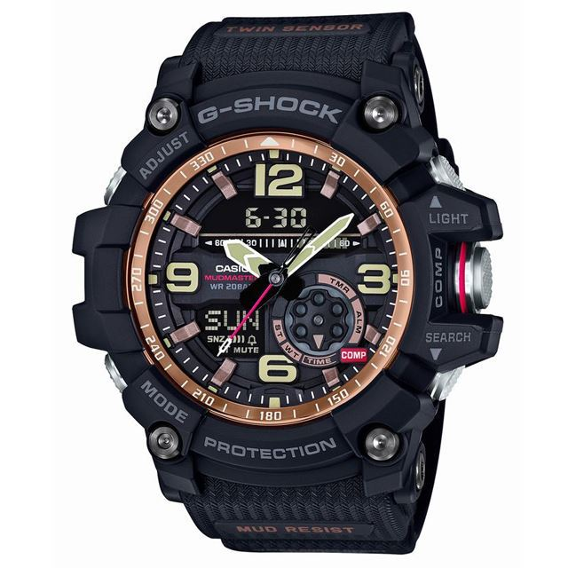 G-SHOCK ジーショック CASIO カシオ メンズ 腕時計 MASTER OF G マスターオブG GG-1000RG-1AJF [20気圧防水/防塵/防泥/方位計測/温度計測/アナログ/国内正規販売店/Authorized Dealer]