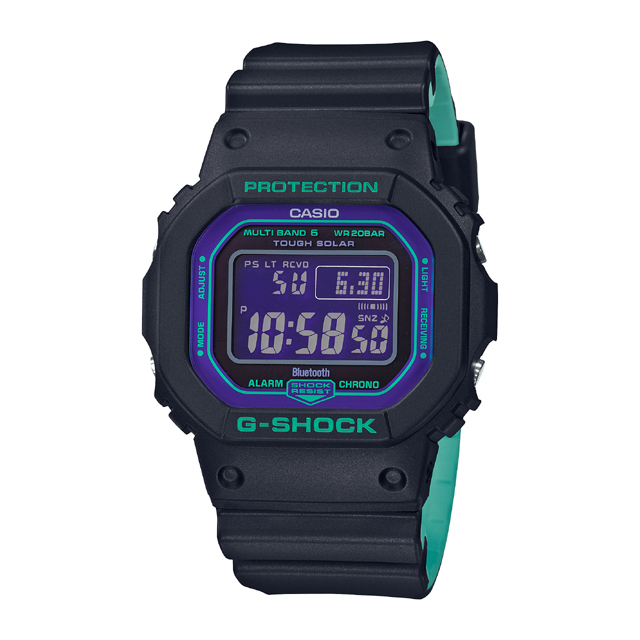 G-SHOCK ジーショック CASIO カシオ メンズ 腕時計 BLACK & 90s Color GW-B5600BL-1JF [G-SHOCK/ジーショック/腕時計/bluetooth/電波ソーラー]