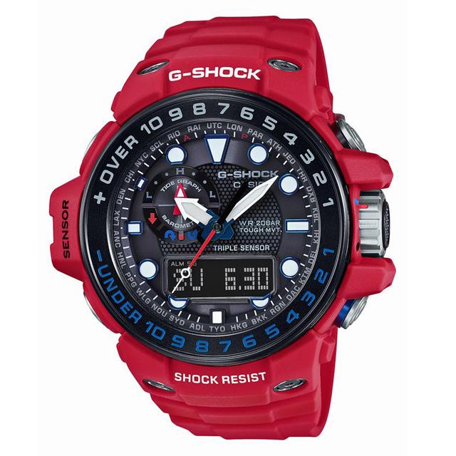 G-SHOCK ジーショック CASIO カシオ メンズ 腕時計 MASTER OF G マスターオブG RESCUE RED レスキューレッド GWN-1000RD-4AJF [レッド/赤/国内正規販売店/Authorized Dealer]