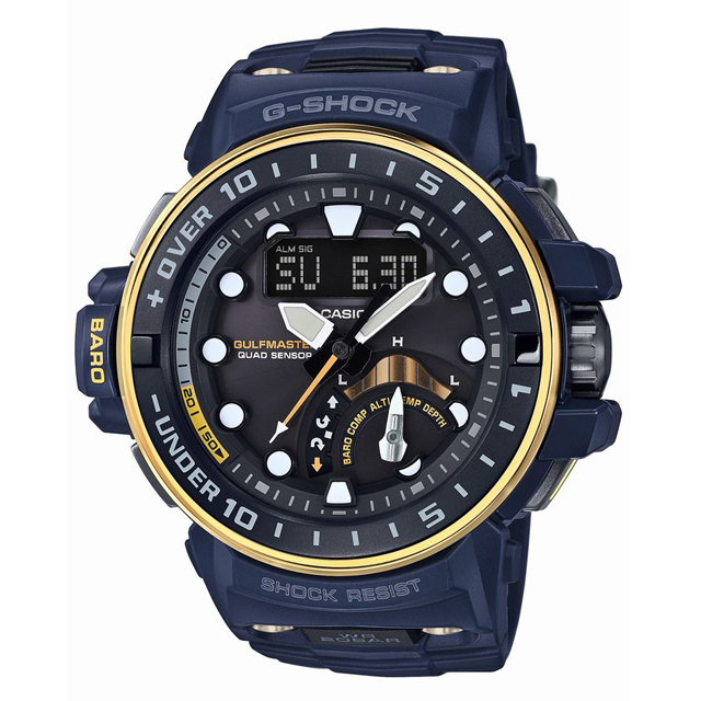 G-SHOCK ジーショック CASIO カシオ メンズ 腕時計 Master in NAVY BLUE マスター・イン・ネイビーブルー GWN-Q1000NV-2AJF [ガルフマスター/20気圧防水/タフソーラー/国内正規販売店/Authorized Dealer]
