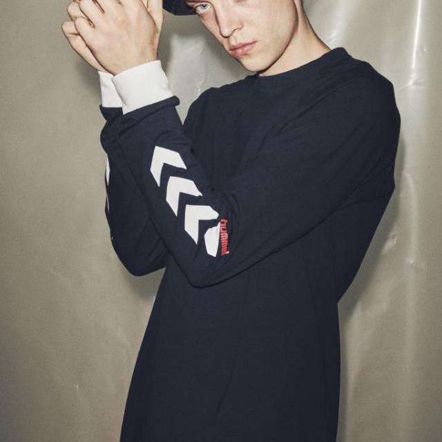 ヒュンメル ハイブ クローブ ロングスリーブ Tシャツ HUMMEL HIVE KROVEJ T-SHIRT L/S BLACK メンズ Tシャツ HM207022-2001