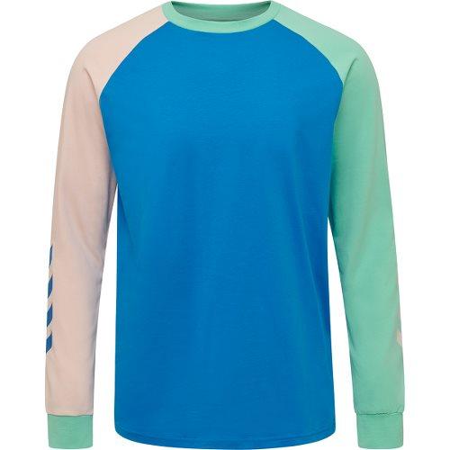 ヒュンメル ハイブ クローブ ロングスリーブ Tシャツ HUMMEL HIVE KROVEJ T-SHIRT L/S BLUE ASTER メンズ Tシャツ HM207022-8378