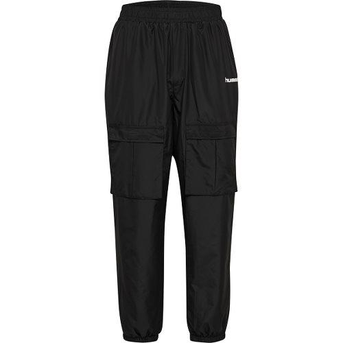 ヒュンメル ハイブ ナイロン パンツ HUMMEL HIVE SURFER OVERSIZED PANTS BLACK メンズ パンツ HM207042-2001