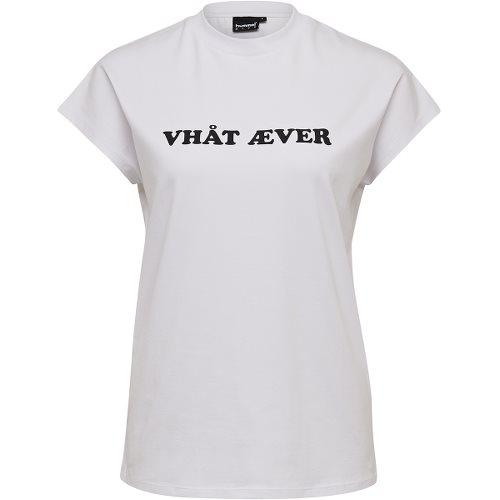 ヒュンメル ハイブ ヴェスター ショーツスリーブ Tシャツ HUMMEL HIVE VESTER T-SHIRT S/S WHITE レディース Tシャツ HM207091-9001