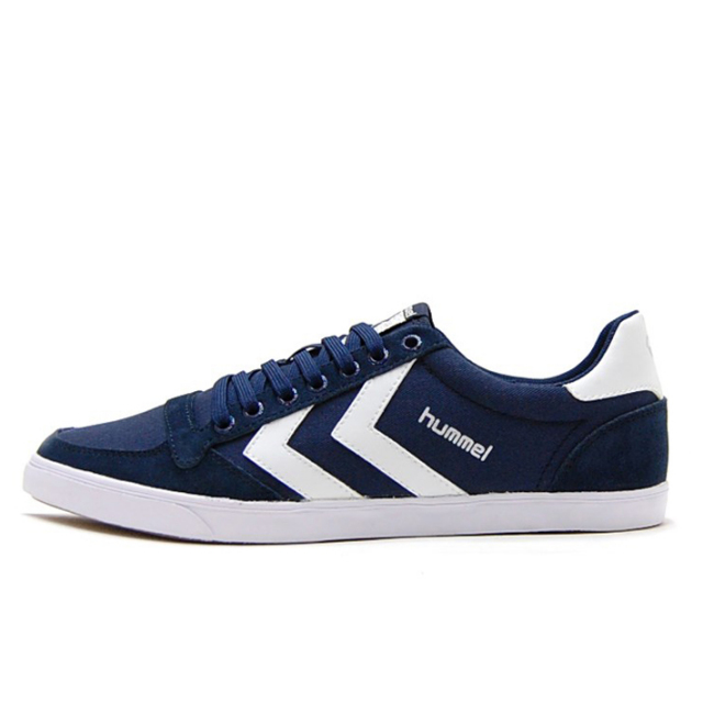 ヒュンメル hummel スニーカー ローカット メンズ レディース Slimmer Stadil Low Canvas Dress Blue Whiteネイビー HM63112K-7647【hummel loves music】【フレンズ MINT mate box SHE IS SUMMER】