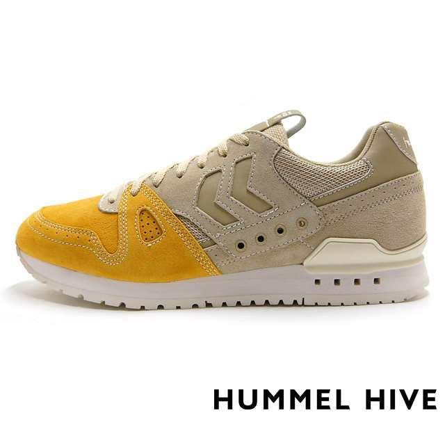 HUMMEL HIVE ヒュンメル ハイブ メンズ レディース スニーカー Marathona Bicolor Shigeyuki Kunii(Mita Sneakers)Direction KHAKI HM200741-8030 [取扱店舗限定/LIMITED EDITION/コラボ/mita sneakers/ミタスニーカーズ/国井栄之]