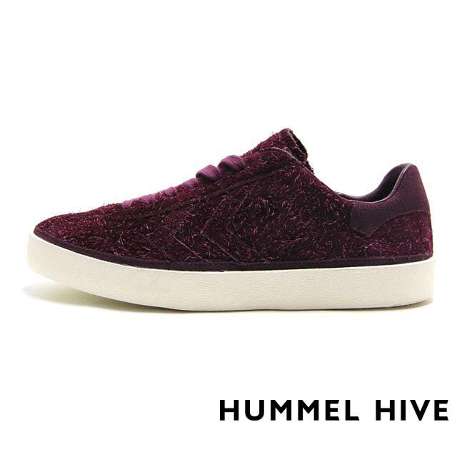 ヒュンメル  スニーカー メンズ HUMMEL HIVE ヒュンメルハイブ ディアマント ロングヘアースエード Hummel DIAMANT LONG HAIRED SUEDE  レッド HM200930-4148