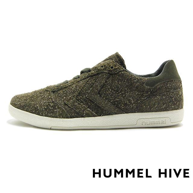 ヒュンメル  スニーカー メンズ HUMMEL HIVE ヒュンメルハイブ ビクトリー ロングヘアー Hummel VICTORY LONG HAIRED SUEDE  カーキ HM200932-6453