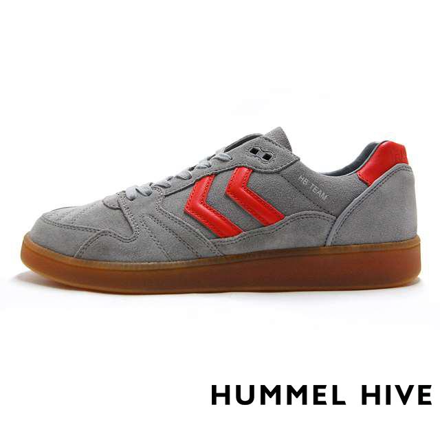 """【50%OFF SALE】 ヒュンメルハイブ メンズ スニーカー リミテッド 限定 モデル HUMMEL HIVE  """"HISTORY PACK"""" HB TEAM ALLOY グレー HM65062-1100"""