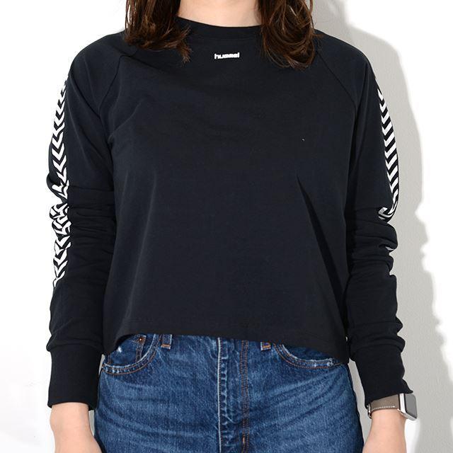 ヒュンメル ハイブ HUMMEL HIVE レディース ロングTシャツ HMLAMALIE T-SHIRT L/S BLACK HM203633-2001