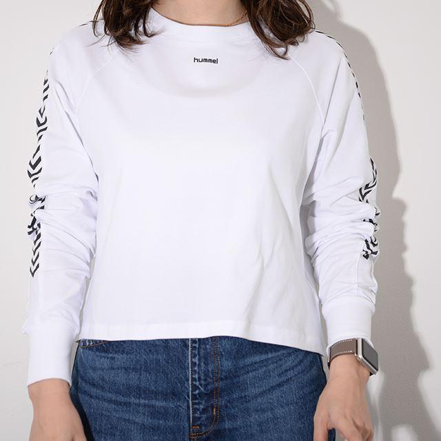 ヒュンメル ハイブ HUMMEL HIVE レディース ロングTシャツ HMLAMALIE T-SHIRT L/S WHITE HM203633-9001