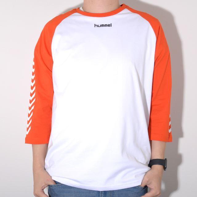 ヒュンメル ハイブ HUMMEL HIVE メンズ 7分丈 ラグランTシャツ HMLANDREAS T-SHIRT 3/4 WHITE HM203708-9001