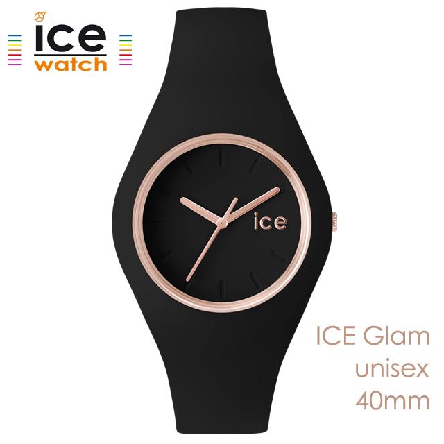 ice watch アイスウォッチ メンズ レディース 腕時計 ICE Glam アイスグラム ブラック ローズゴールド ユニセックス 000980 [シリコンストラップ/女性/男性/スタイリッシュ/黒/国内正規販売店/Authorized Dealer]