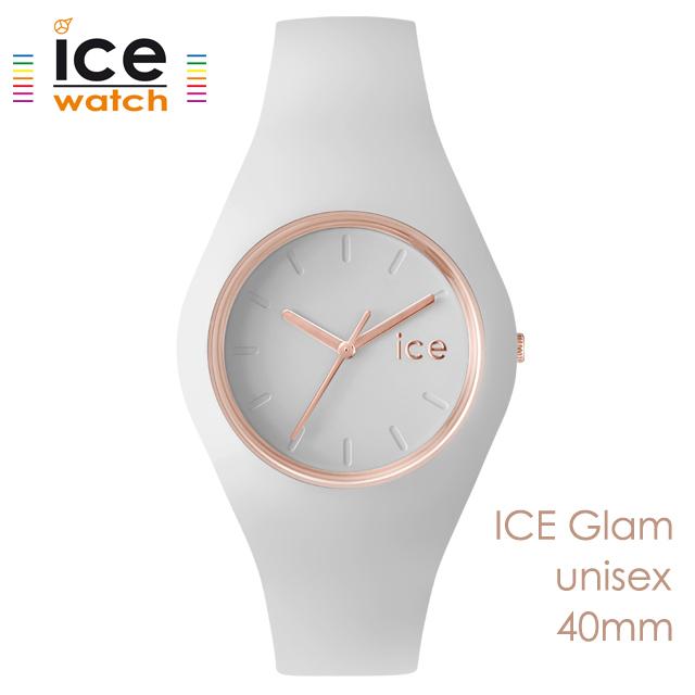 ice watch アイスウォッチ メンズ レディース 腕時計 ICE Glam アイスグラム ホワイト ローズゴールド ユニセックス 000978 [シリコンストラップ/女性/男性/エレガント/白/国内正規販売店/Authorized Dealer]