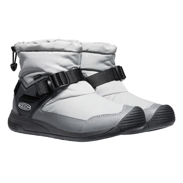 キーン フッドロメオ ウォータープルーフ KEEN HOODROMEO WP DRIZZLE / PEWTER メンズ ブーツ 防水 暖かい スリップオンブーツ 1024245