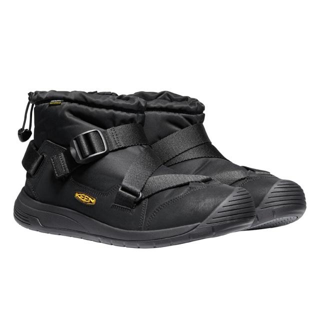 キーン フッドゼラ ウォータープルーフ KEEN HOODZERRA WP BLACK / BLACK メンズ ブーツ 防水 暖かい 1024247