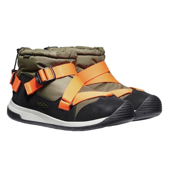 キーン フッドゼラ ウォータープルーフ KEEN HOODZERRA WP DARK OLIVE / SAFETY ORANGE メンズ ブーツ 防水 暖かい 1024249