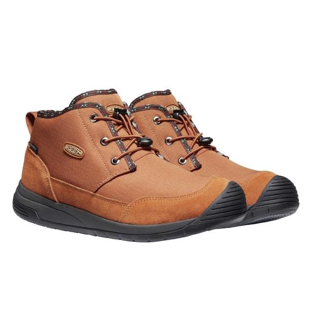 キーン フッドチャッカ ウォータープルーフ KEEN HOODCHUKKA WP CARAMEL CAFE / RAVEN メンズ ブーツ 防水 暖かい 1024252