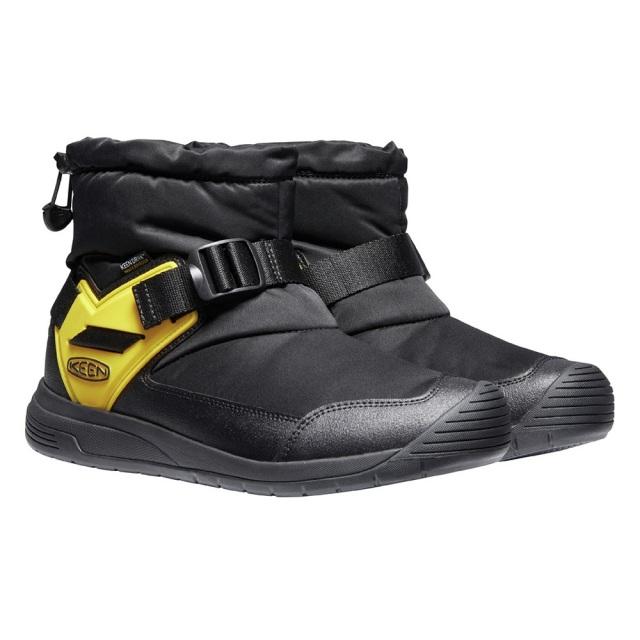 キーン フッドロメオ ウォータープルーフ KEEN HOODROMEO WP BLACK / KEEN YELLOW メンズ ブーツ 防水 暖かい スリップオンブーツ 1024463