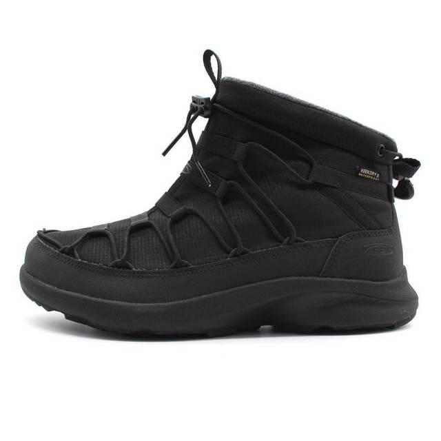 キーン ユニーク スニーク チャッカ ウォータープルーフ KEEN UNEEK SNK CHUKKA WP M-TRIPLE BLACK/BLACK メンズ ブーツ 防水 1023553