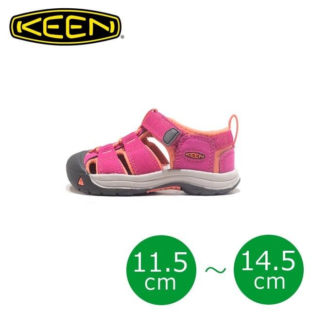 KEEN キーン キッズ サンダル KIDS NEWPORT H2 キッズ ニューポート H2 Very Berry/Fusion Coral T:1014736 [ピンク/アウトドア/軽量/ソックス/子供靴/ベビー/ジュニア/男の子/女の子/海/プール/水遊び]