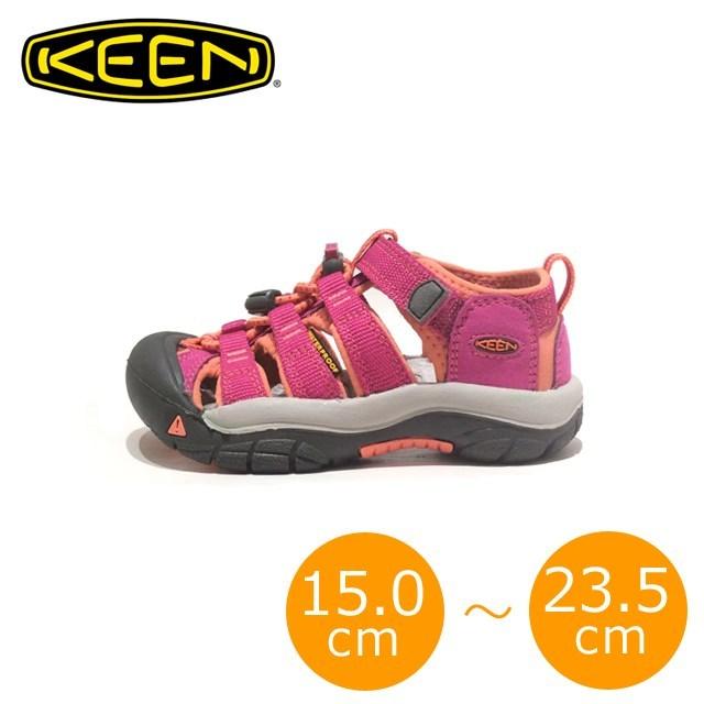 KEEN キーン キッズ サンダル KIDS NEWPORT H2 キッズ ニューポート H2 Very Berry/Fusion Coral Y:1014267 C:1014251 [ピンク/アウトドア/軽量/ソックス/子供靴/ジュニア/男の子/女の子/海/プール/水遊び]