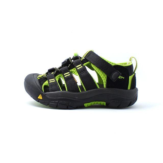 キーン KEEN サンダル キッズ リトルキッズ ビッグキッズ NEWPORT H2 ニューポート H2 Black/Lime Green 1009965 1009942