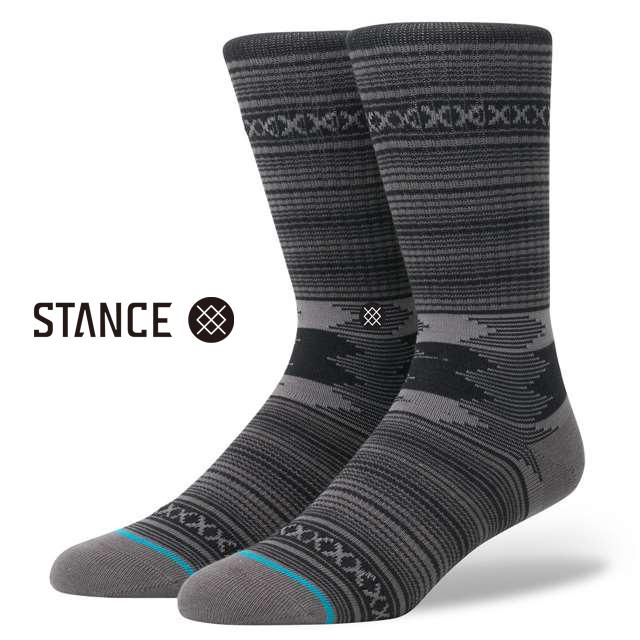 スタンス ソックス STANCE SOCKS メンズ 柄物 靴下 くつ下 ハイソックス GUADALUPE CHARCOAL M311D15GUA-CHA / Lサイズ(25.5-29cm)