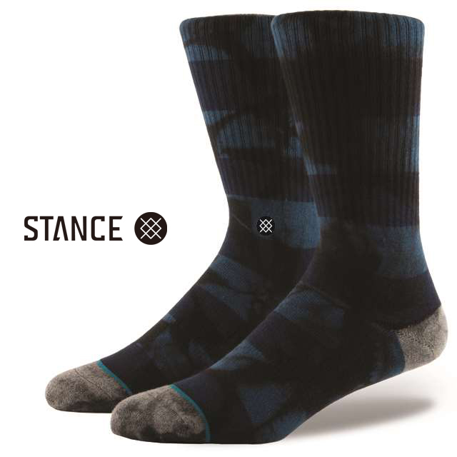 スタンス ソックス STANCE SOCKS メンズ 柄物 靴下 くつ下 ハイソックス WELLS BLUE M526B16WEL-BLU / Lサイズ(25.5-29cm)