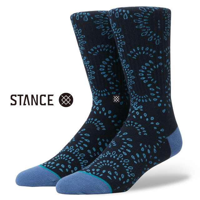スタンス ソックス STANCE SOCKS メンズ 柄物 靴下 くつ下 ハイソックス VERACRUZ NAVY M526B17VER-NVY / Lサイズ(25.5-29cm)