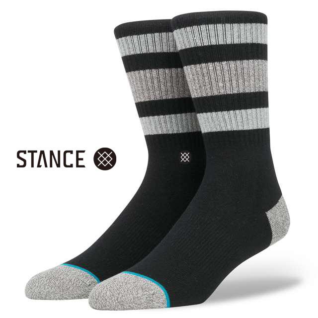 スタンス ソックス STANCE SOCKS メンズ ボーダー 靴下 くつ下 ハイソックス BOYD 3 BLACK M526C16BOY-BLK / Lサイズ(25.5-29cm)