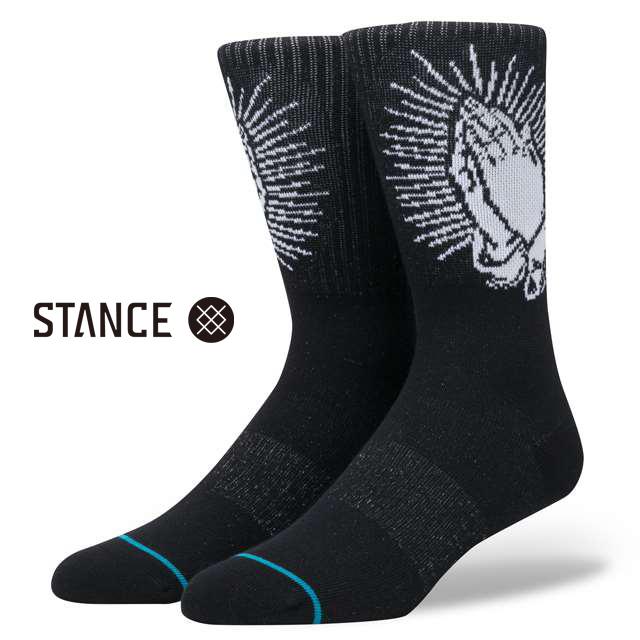 スタンス ソックス STANCE SOCKS メンズ イラスト 柄物 靴下 くつ下 ハイソックス SPIRITO BLACK M526C17SPI-BLK / Lサイズ(25.5-29cm)