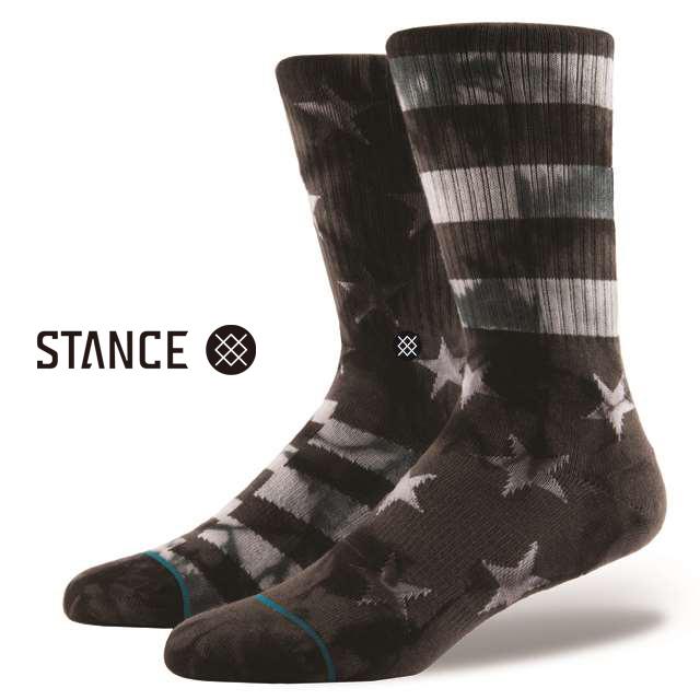 スタンス ソックス STANCE SOCKS メンズ スター&ストライプス 柄物 靴下 くつ下 ハイソックス VICTORY GREY M526C17VIC-GRY / Lサイズ(25.5-29cm)