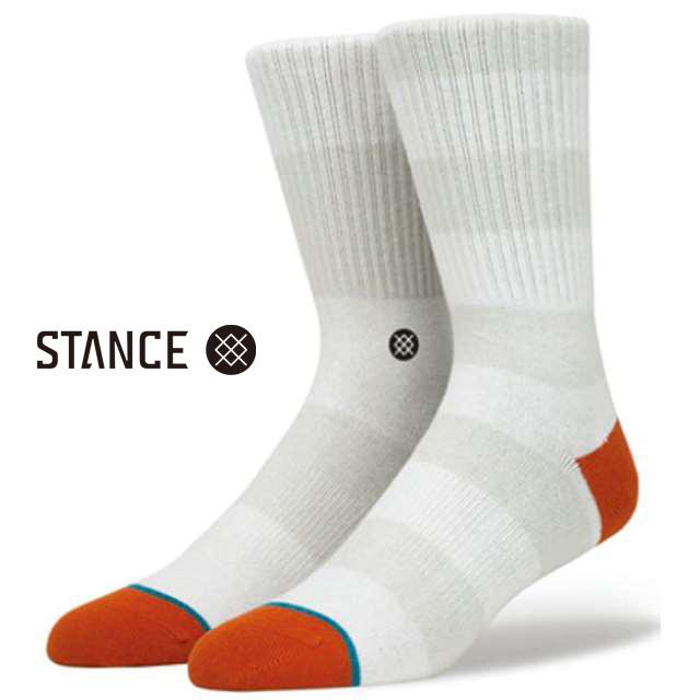 スタンス ソックス STANCE SOCKS メンズ ボーダー 靴下 くつ下 ハイソックス CADET 2 NATURAL M526D16CAD-NAT / Lサイズ(25.5-29cm)