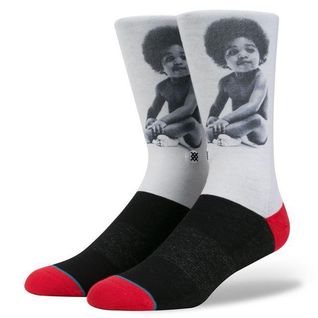 スタンス ソックス STANCE SOCKS メンズ ノトーリアス・B.I.G. The Notorious B.I.G ヒップホップ HIPHOP 柄物 靴下 くつ下 ハイソックス READY TO DIE M545A16REA BLACK