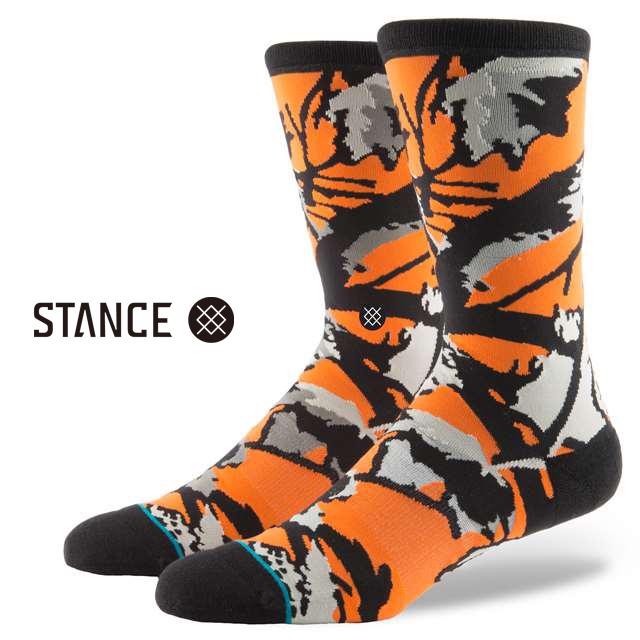 スタンス ソックス STANCE SOCKS メンズ 柄物 靴下 くつ下 ハイソックス PERY RED M545C17PRE-RED / Lサイズ(25.5-29cm)