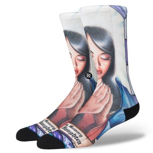 スタンス ソックス STANCE SOCKS メンズ AALIYAH アリーヤ R&B 柄物 靴下 くつ下 ハイソックス M545D17AAL-MUL