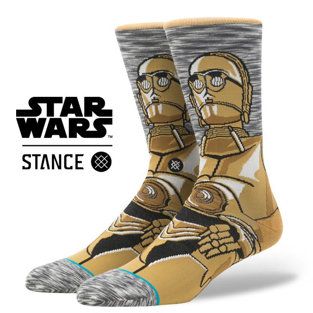スタンス ソックス STANCE SOCKS STARWARS C3PO スターウォーズ エピソード 8/ 最後のジェダイ メンズ 靴下 くつ下 ハイソックス ANDROID GREY M545D17AND / Lサイズ(25.5-29cm)
