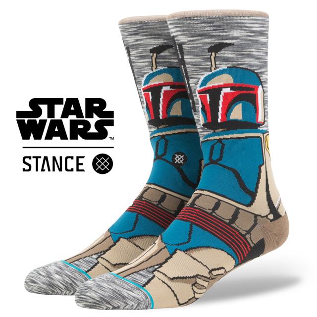 スタンス ソックス STANCE SOCKS STARWARS スターウォーズ ボバ・フェット Boba Fett エピソード 8/ 最後のジェダイ メンズ 靴下 くつ下 ハイソックス BOUNTY HUNTER M545D17BOU / Lサイズ(25.5-29cm)