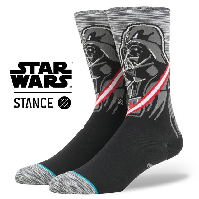 スタンス ソックス STANCE SOCKS STARWARS スターウォーズ ダース・ベイダー Darth Vader エピソード 8/ 最後のジェダイ メンズ 靴下 くつ下 ハイソックス DARKSIDE GREY M545D17DAR / Lサイズ(25.5-29cm)