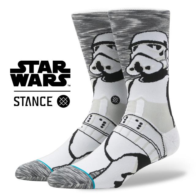 スタンス ソックス STANCE SOCKS STARWARS ストームトルーパー スターウォーズ Stormtrooper エピソード 8/ 最後のジェダイ メンズ 靴下 くつ下 ハイソックス EMPIRE GREY M545D17EMP / Lサイズ(25.5-29cm)