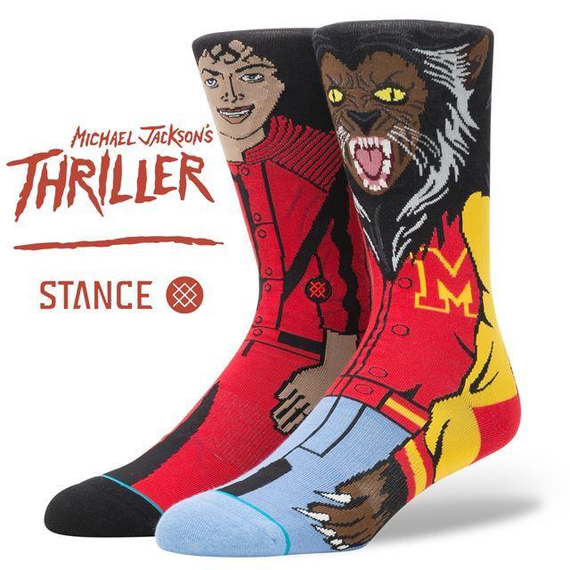 スタンス ソックス STANCE SOCKS メンズ THRILLER スリラー マイケルジャクソン MJ 柄物 靴下 くつ下 ハイソックス MICHAEL JACKSON M545D17MIC RED