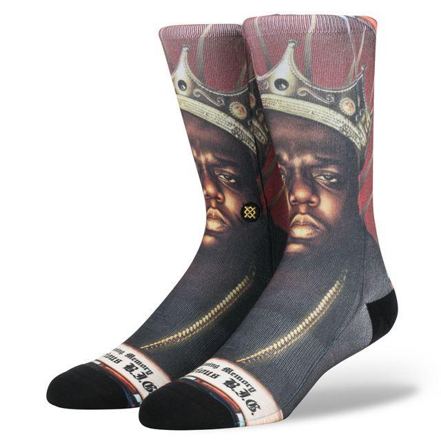 スタンス ソックス STANCE SOCKS メンズ ノトーリアス・B.I.G. The Notorious B.I.G ヒップホップ HIPHOP 柄物 靴下 くつ下 ハイソックス PRAISE B.I.G. M545D17NOT MULTI
