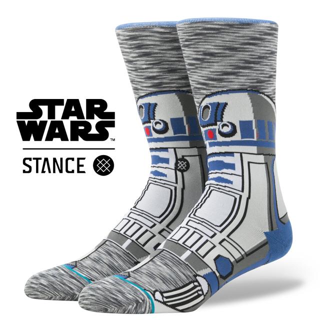 スタンス ソックス STANCE SOCKS STARWARS R2D2 スターウォーズ エピソード 8/ 最後のジェダイ メンズ 靴下 くつ下 ハイソックス R2 UNIT M545D17R2U / Lサイズ(25.5-29cm)